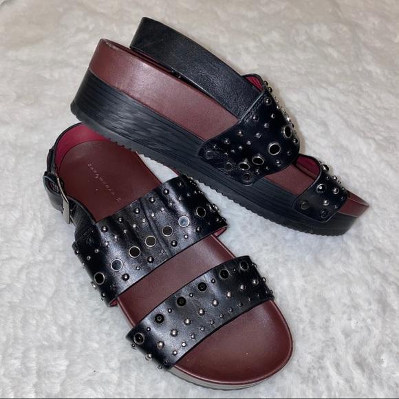 ZARA Platform Sandals with Studs